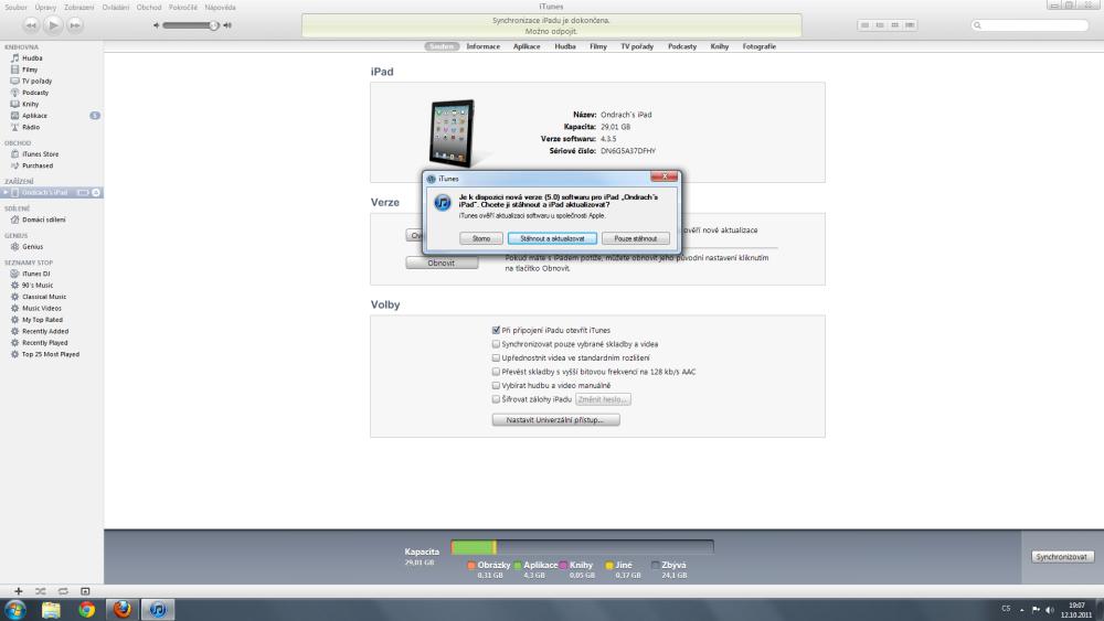 Problémová aktualizace iOS (2/6)