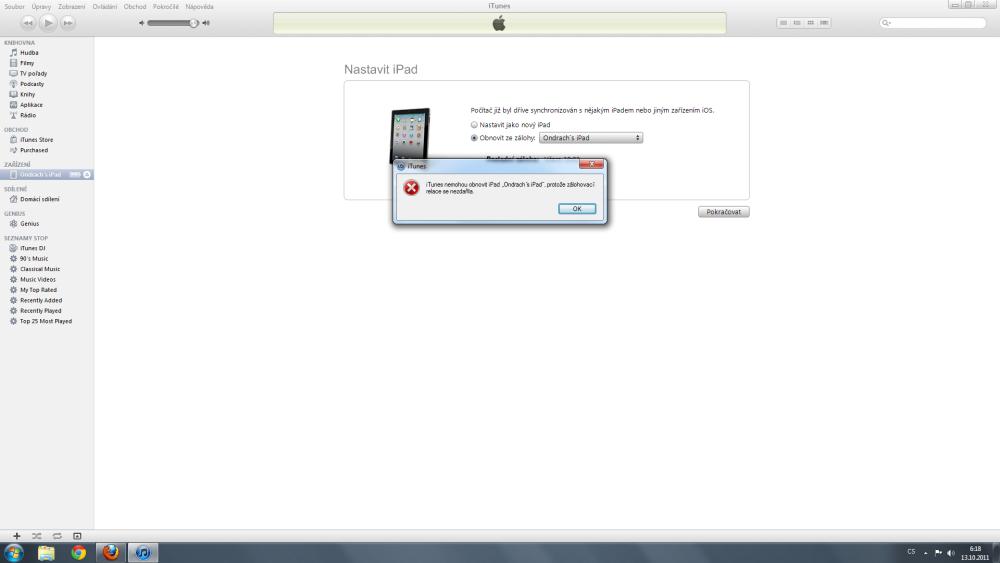 Problémová aktualizace iOS (6/6)