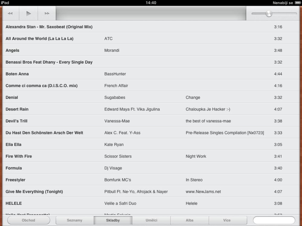 Přidání filmů a hudby, aktualizace iOS (2/3)