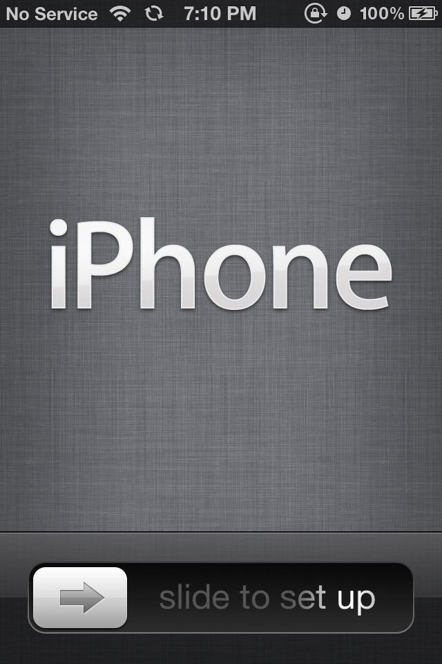 Přišla zásilka a zprovoznění iPhonu 4 (4/6)