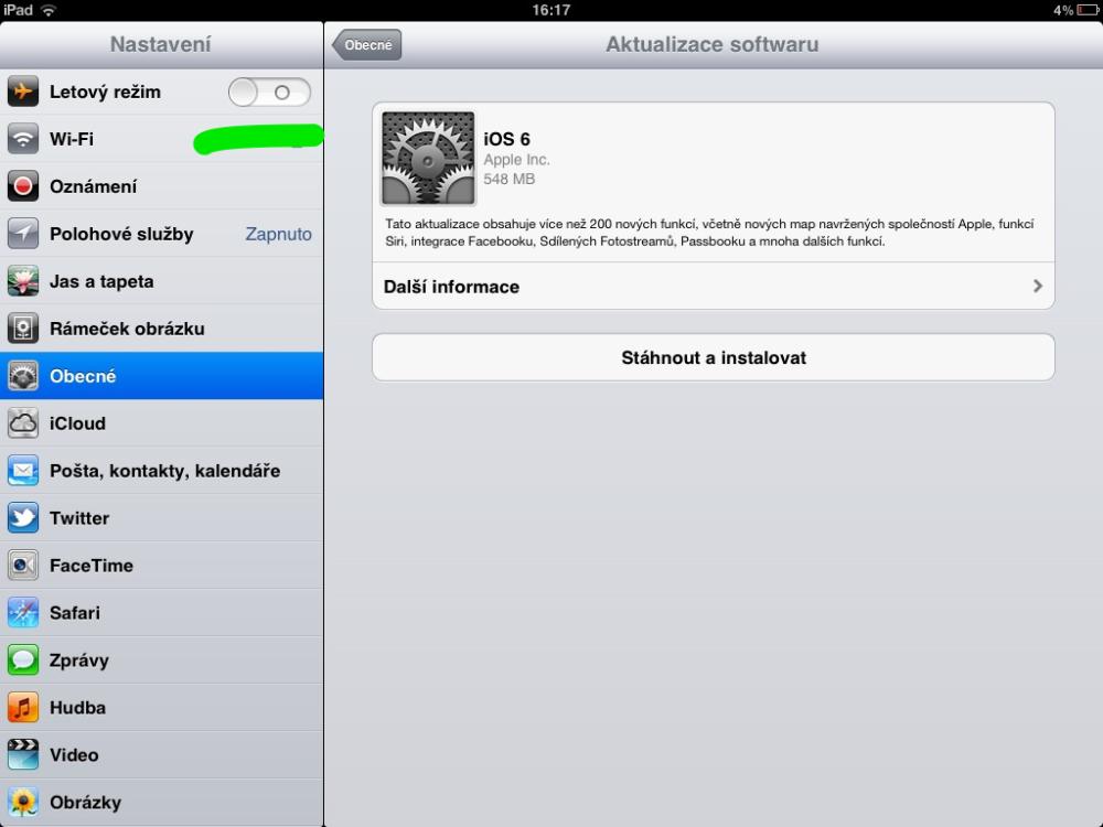 Vydáno iOS 6, zatím neaktualizuji (1/6)